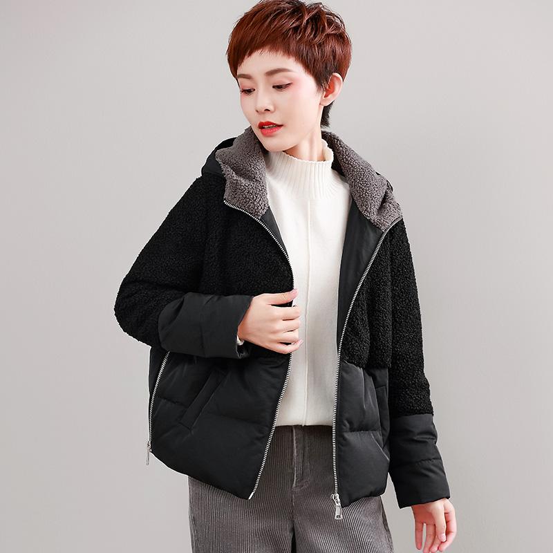 仿羊羔绒短全球正规博彩有哪些羽绒服时尚羽绒服